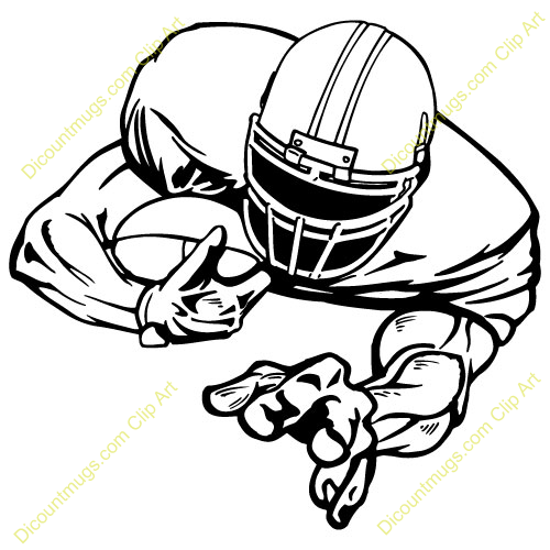500x500 Standing Football Player Clipart