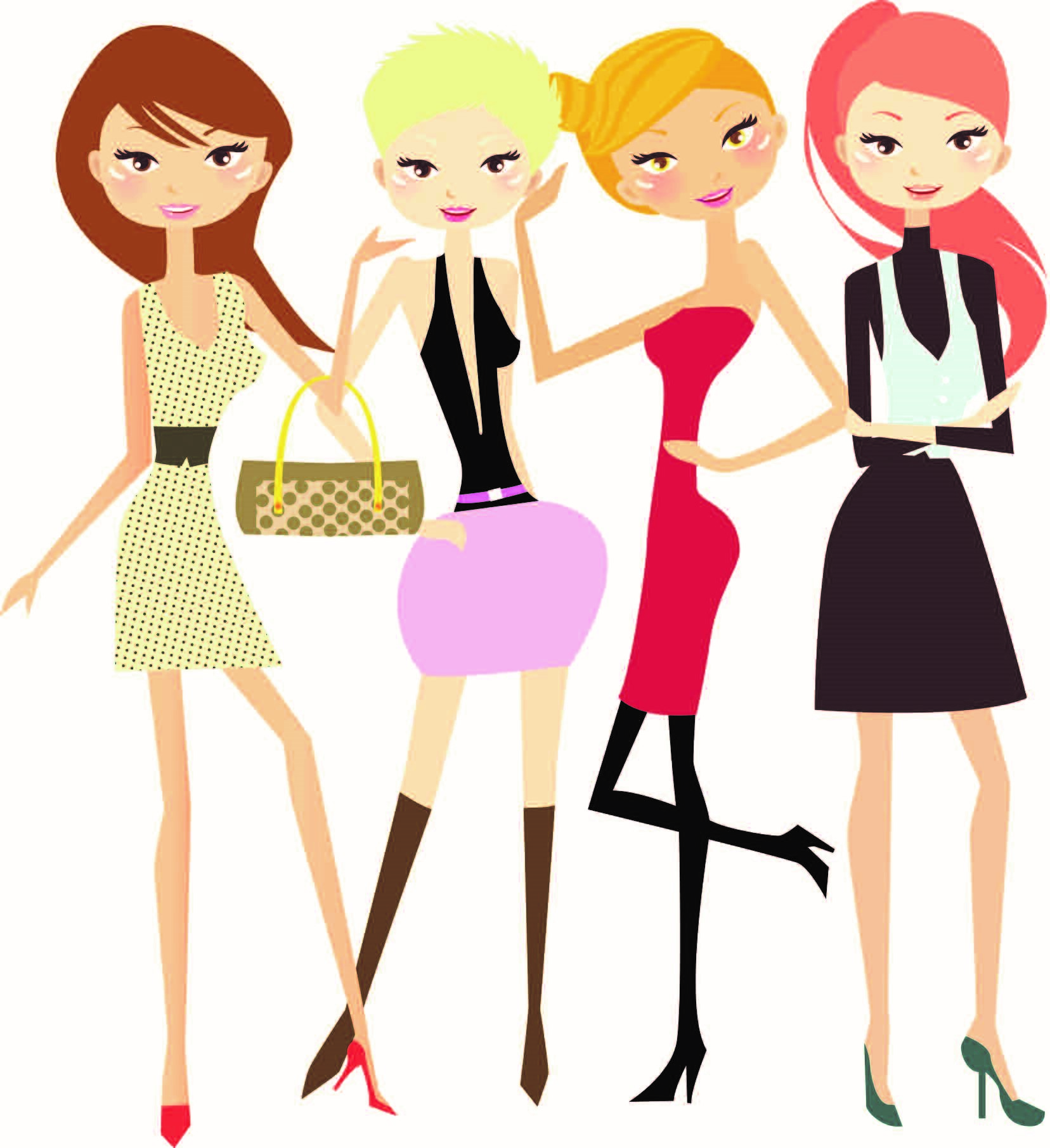 1656x1811 Girls Night Out Clipart