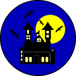 300x300 Haunted House Clipart Image