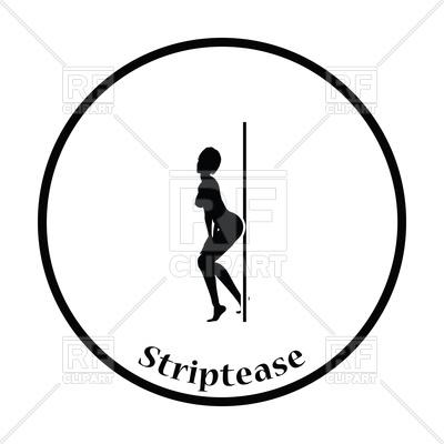 400x400 Thin Circle Design Of Stripper Night Club Royalty Free Vector Clip