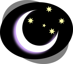 298x261 Black Night Moon Clip Art