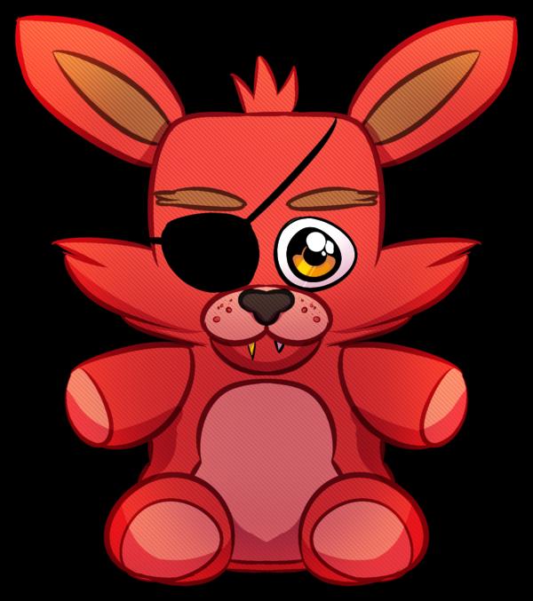 600x677 Foxy Plush Sticker By Psychohog