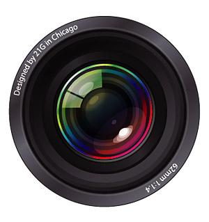 300x319 Cool Camera Lens Clipart