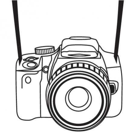 450x450 Nikon Clipart Camera Sketch