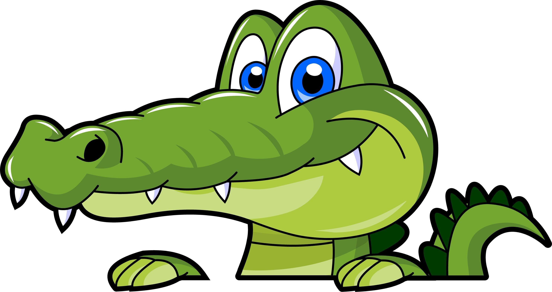 2965x1573 Clip Art Alligator Clipart Image