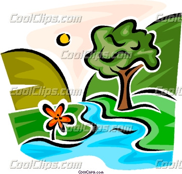 375x357 Mountain River Clipart