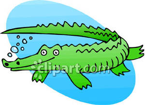 300x217 Swimming Through Water Crocodile Clipart, Explore Pictures