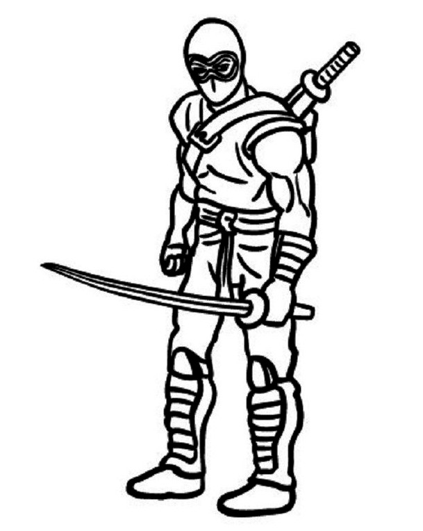 Ninja Coloring Pages | Free download on ClipArtMag