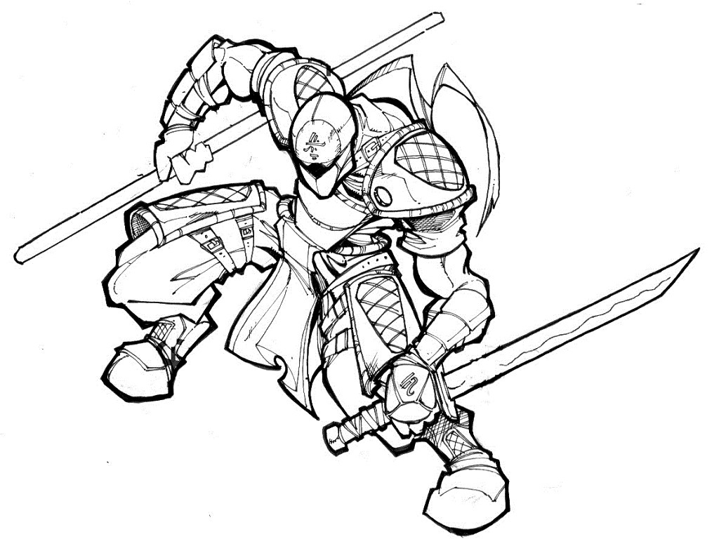 1024x768 Ninja Coloring Pages Japanese Ninja