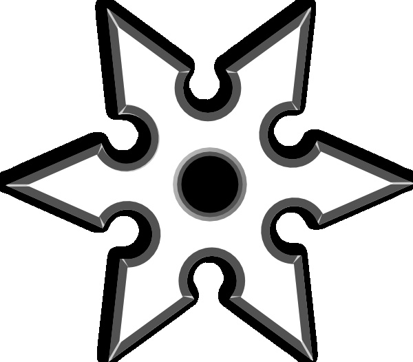Ninja Star Cliparts