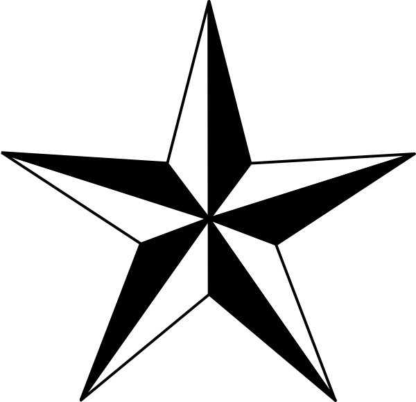 600x580 Star Outline Images Star Outline Black And White Clipart 2