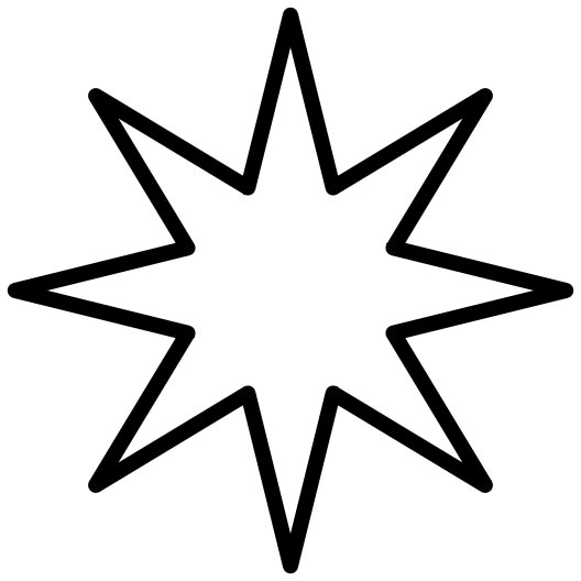 528x528 Star Outline Rounded Star Pattern Use The Printable Outline