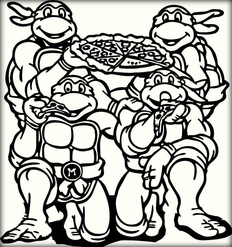 Genius image within printable ninja turtle coloring pages