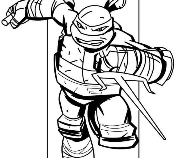 678x600 Nickelodeon Ninja Turtles Coloring Pages Teenage Mutant Ninja