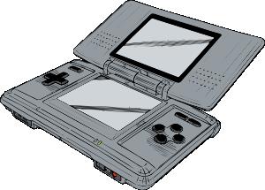 300x215 Portable Game Console Clip Art