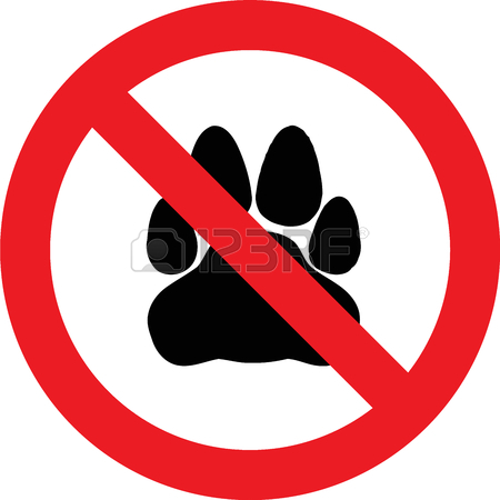 No Cats Allowed Sign Clipart
