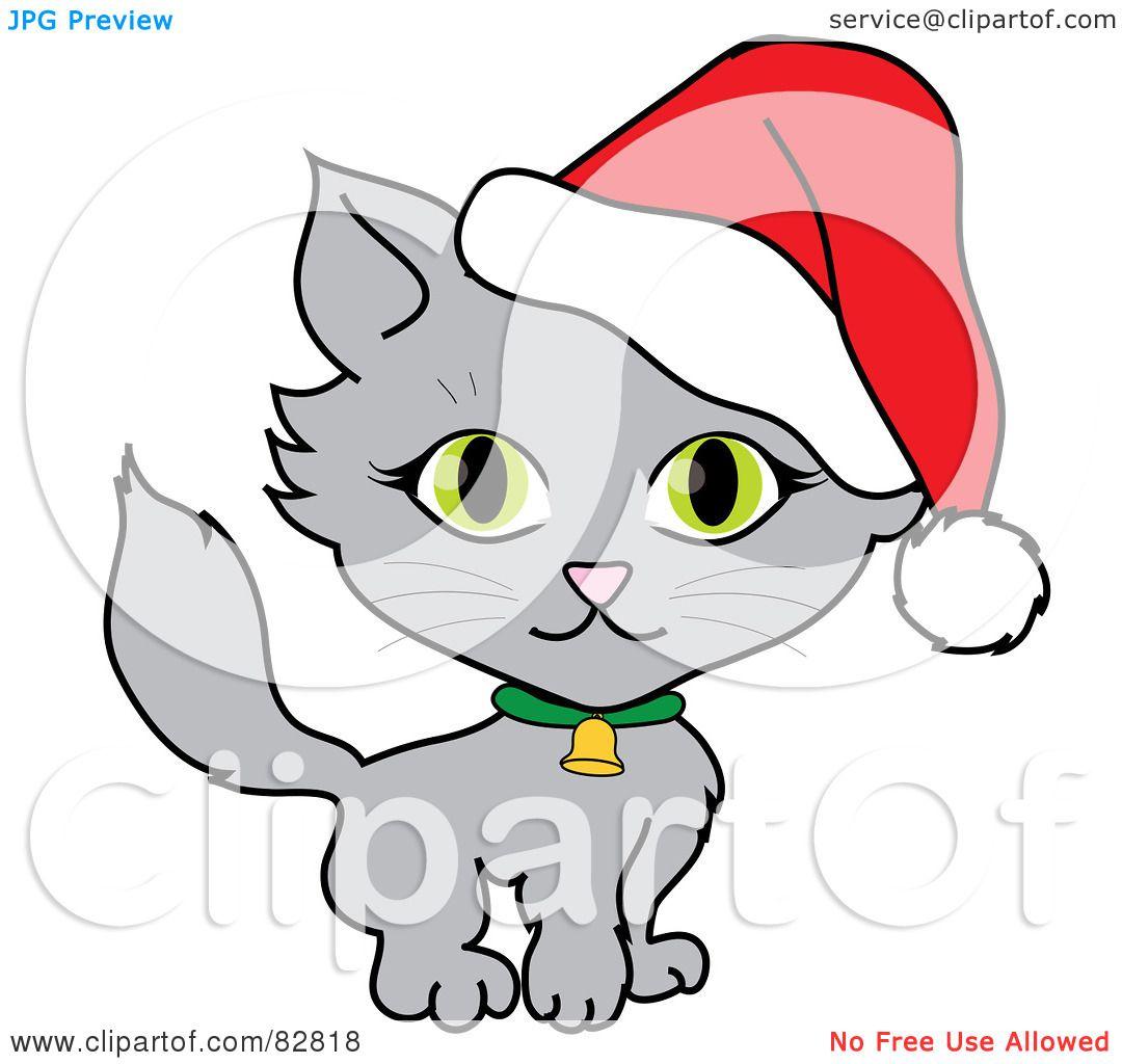 1080x1024 Cat Clipart Santa