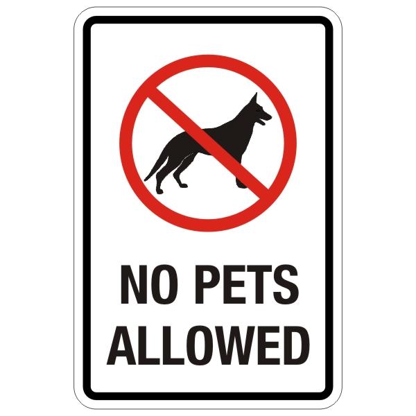 600x600 No Animals Sign Clip Art