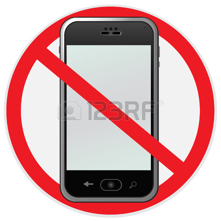 450x450 No, Cell, Phone, Sign, Illustration Royalty Free Cliparts, Vectors