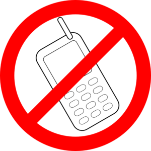 300x300 No Cell Phone Clipart