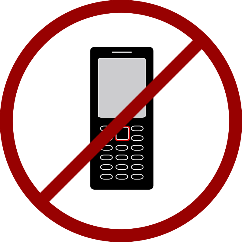 800x800 No Cell Phone Clipart