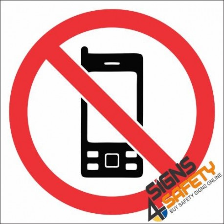 458x458 No Cell Phone Hazchem Sign