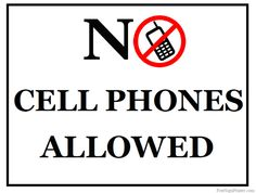 236x178 No Cell Phone Zone Printable Sign Printable Inspiration