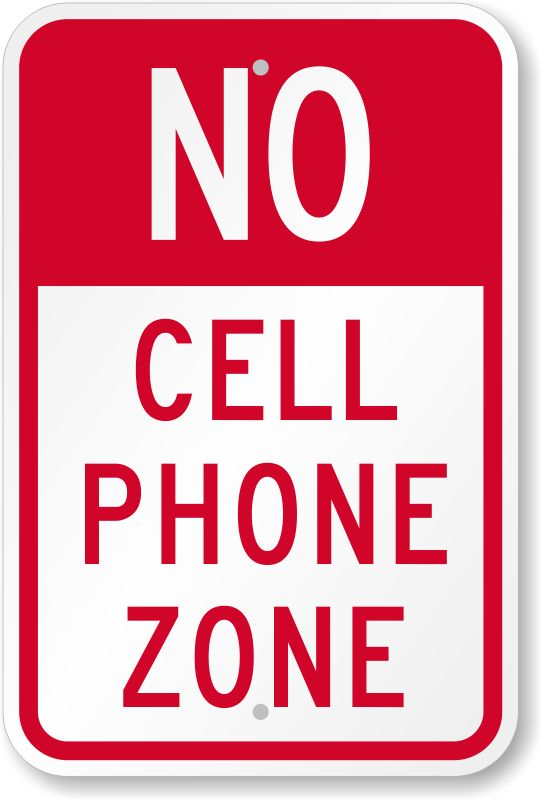 542x800 No Phone Zone Clipart