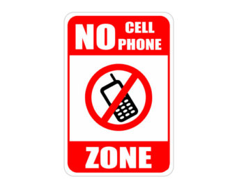 340x270 No Cellphone Sign Etsy