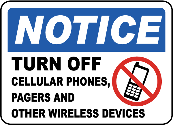 600x433 Turn Off Cellular Phones, Pagers Sign F7233
