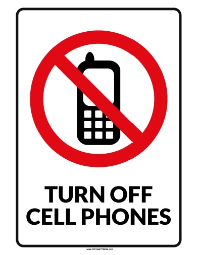 390x506 No Cell Phone Signs To Print