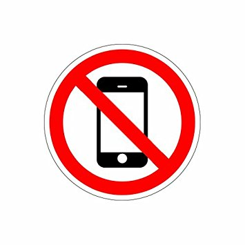 355x355 No Cell Phone Zone