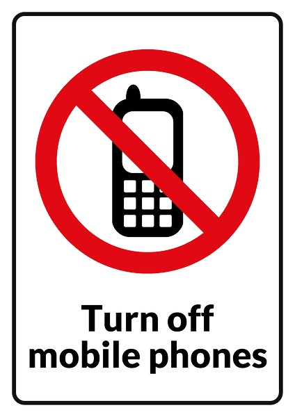 424x600 No Cell Phone Clipart