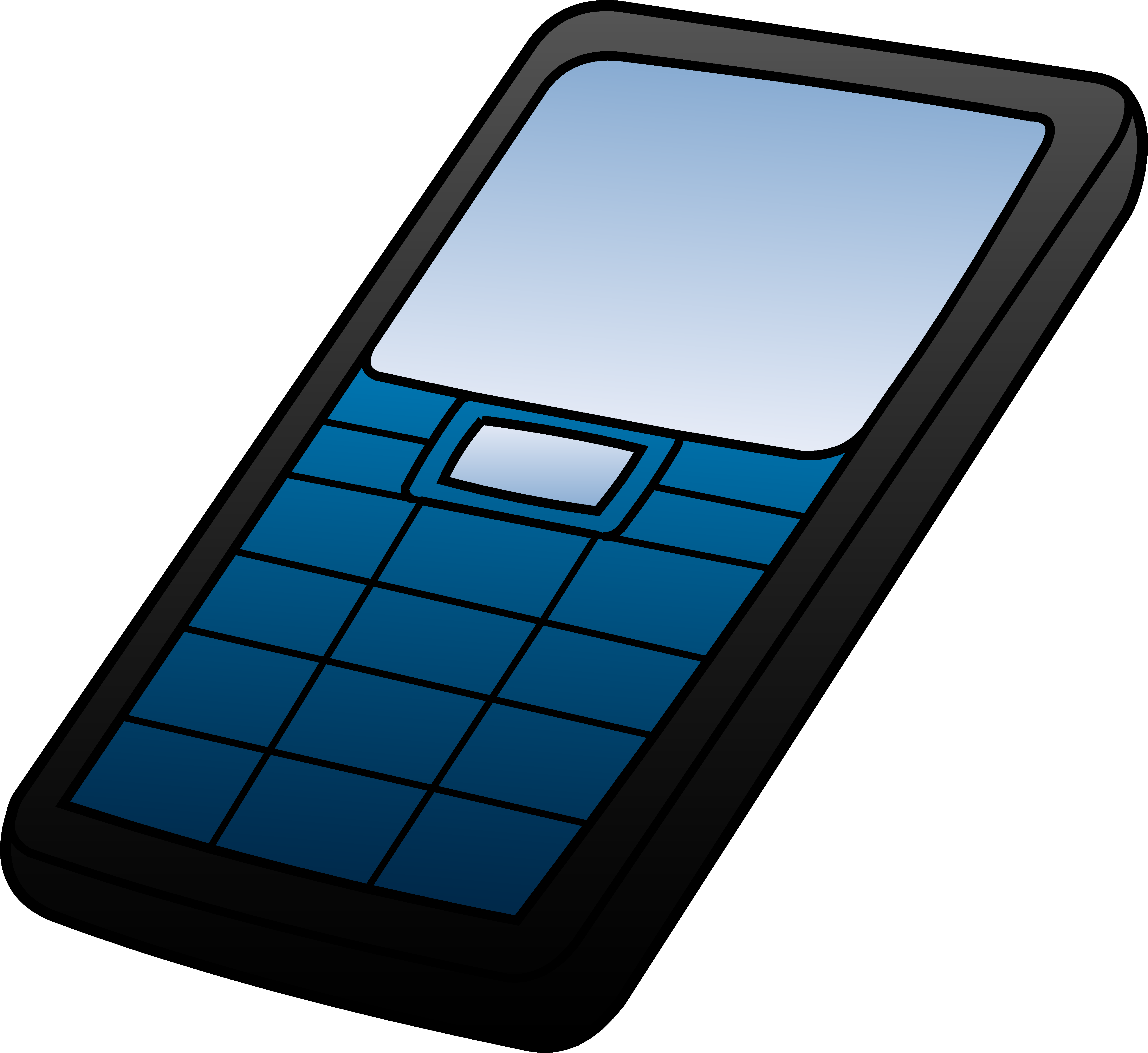 5563x5105 Blue And Black Cell Phone Design