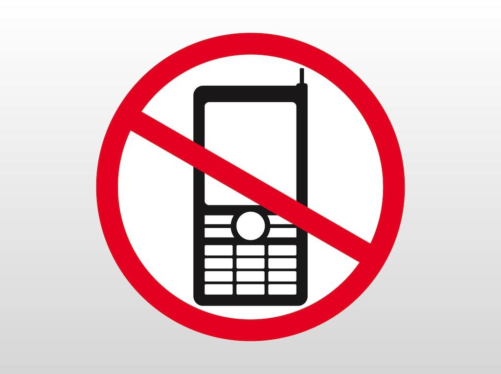 1024x765 Clipart No Cellphone Sign