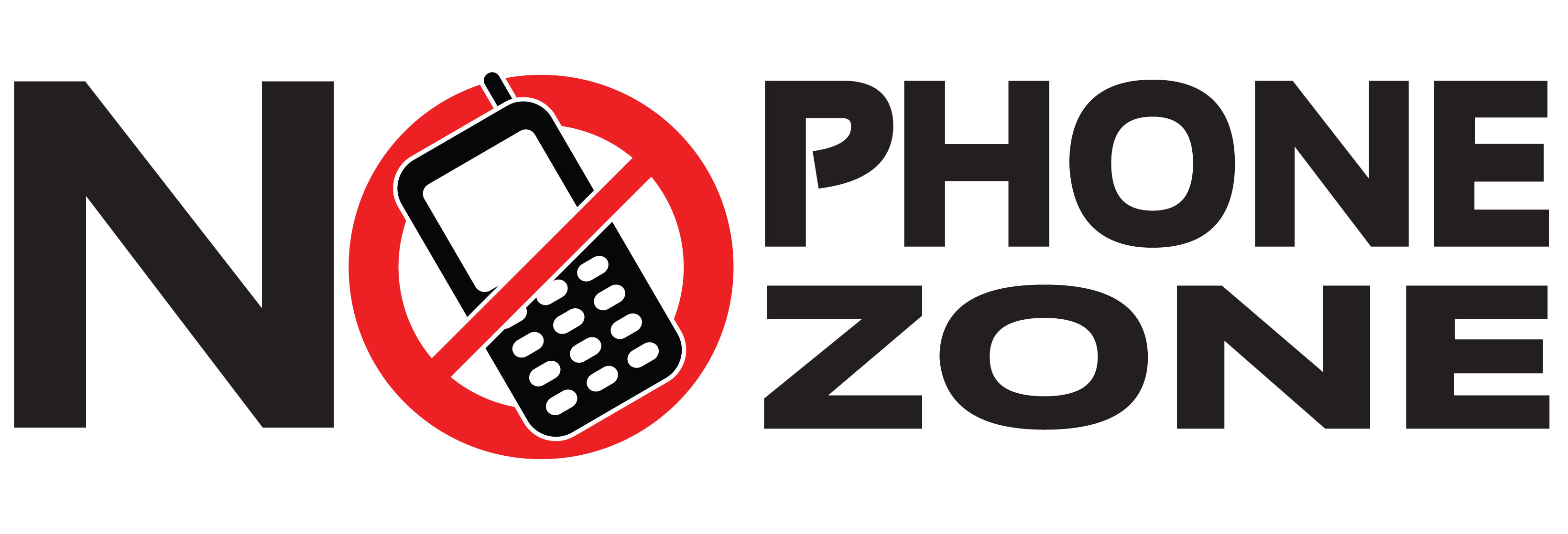 3280x1119 No Cell Phone Zone Clip Art