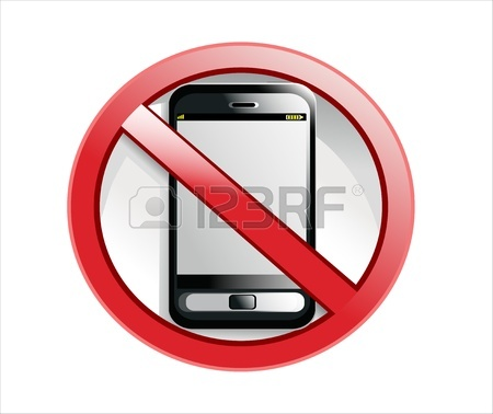 450x378 No Cell Phone Sign Illustration Design Isolated Over A White