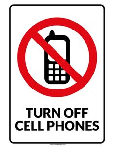 236x306 No Cell Phone Small Poster