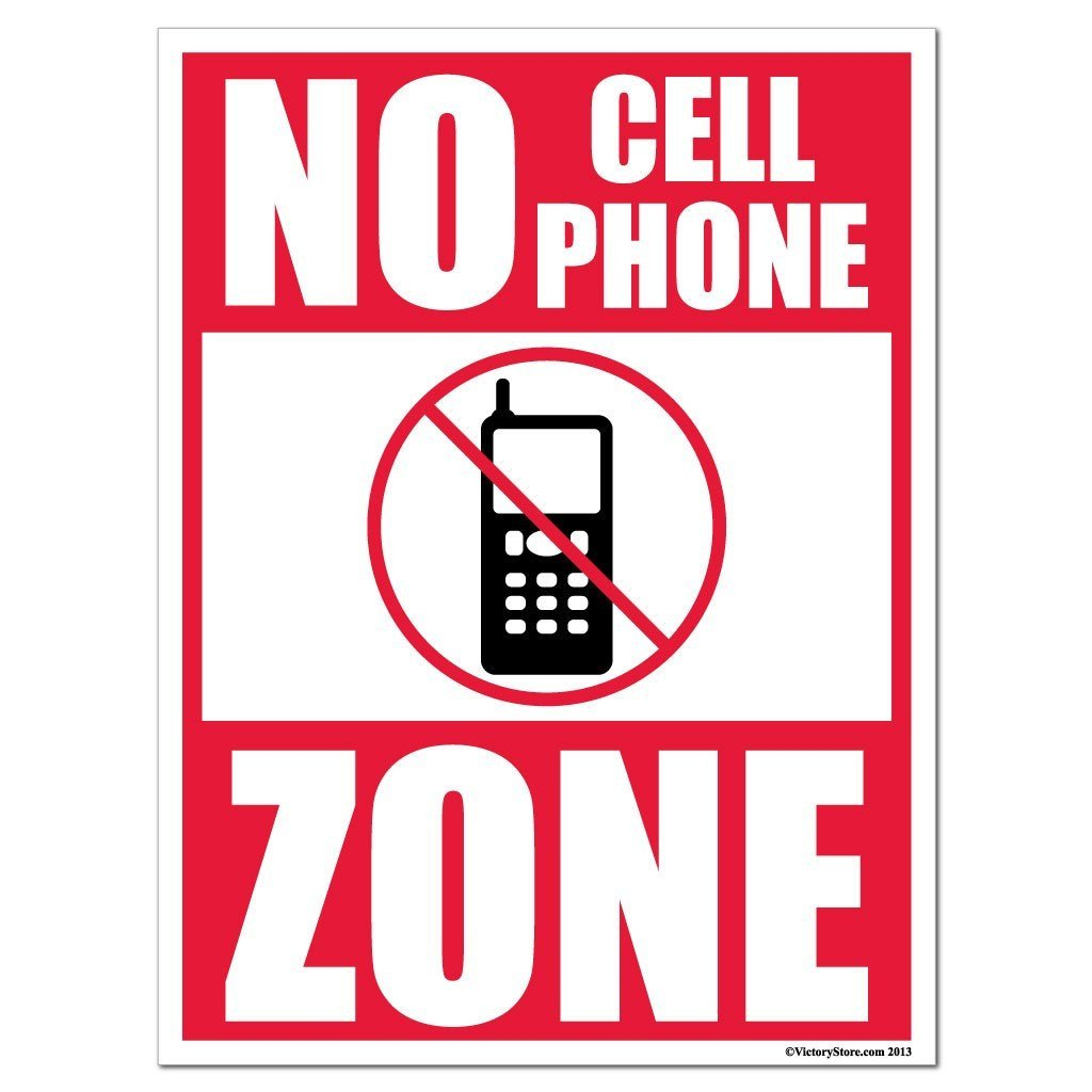 1024x1024 No Cell Phone Zone Sign Or Sticker