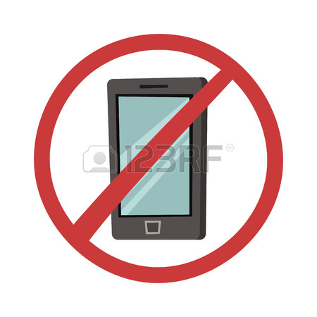450x450 No Mobile Phone Allowed Sign Turn Off Phone. Turn Off Mobile