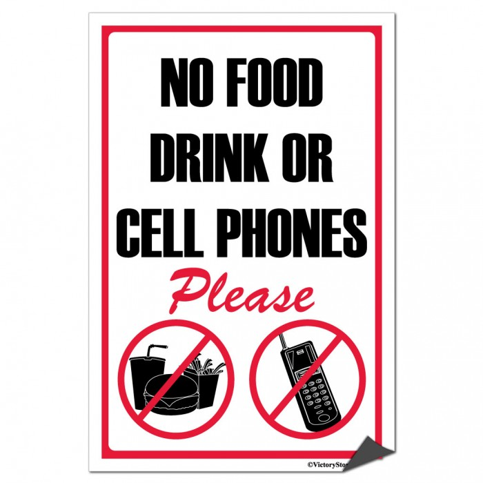 700x700 Printable No Cell Phone Sign