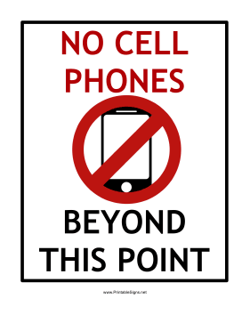 281x363 Printable No Cell Phones Beyond This Point Sign