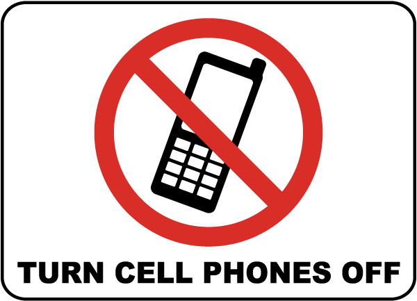 600x433 Turn Cell Phones Off Sign F7231