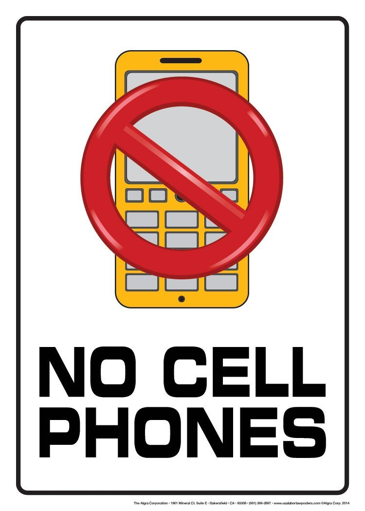 750x1050 No Cell Phones Poster Office Products
