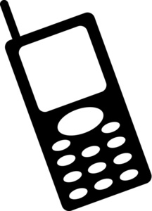 216x300 Cell Phone Clipart