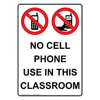 342x342 Compliancesigns Vertical Aluminum No Cell Phone Use In This