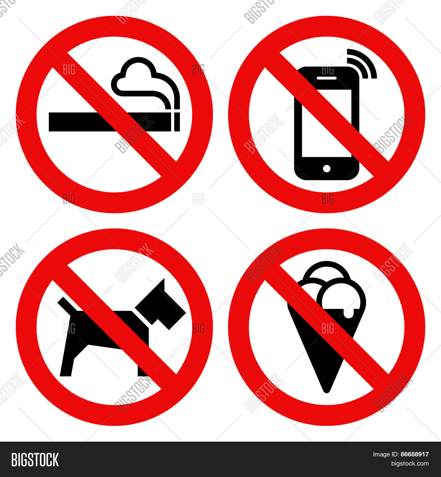 1500x1620 No Smoking, No Cell Phone, No Dogs Vector Amp Photo Bigstock