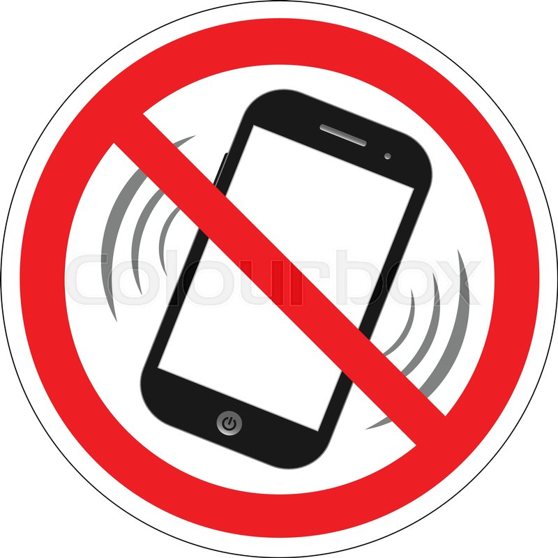 800x800 No Cell Phone Sign. Mobile Phone Ringer Volume Mute Sign. No