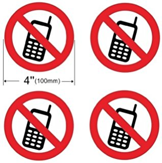 318x320 No Cell Phone Use Sign