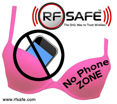 385x341 Rf Safe Supports Breast Cancer Awareness Phone Bra Cell